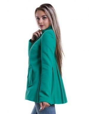 Пальто женское К-161 Корсетка кашемир мята