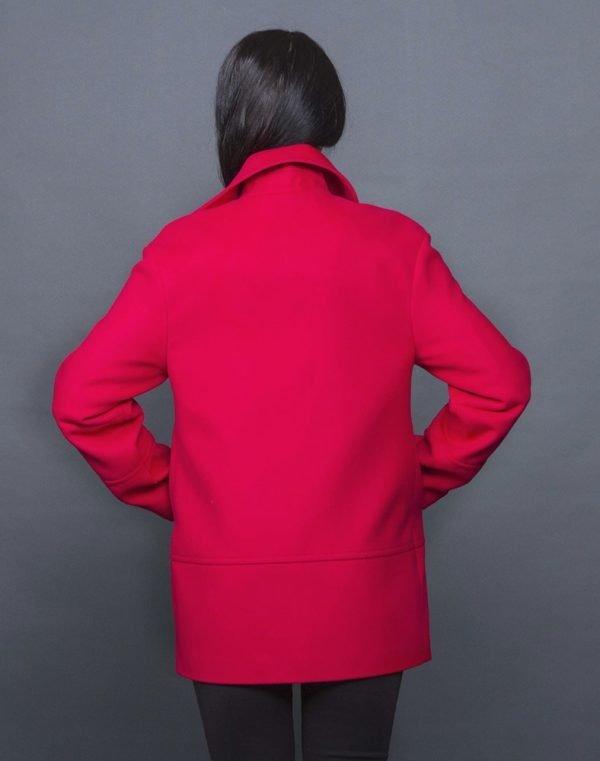 Пальто женское Кашемир-166 красный