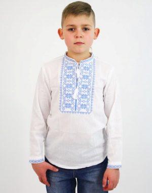 """Вышиванка для мальчиков """"Зірочка"""" ДР хлопок 098-116 белый"""