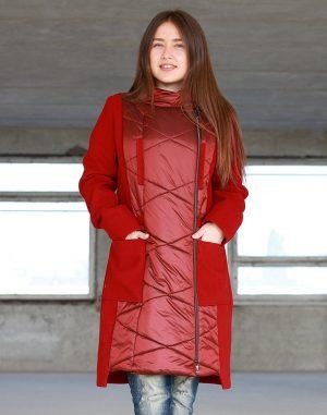Пальто женское Осень терракот терракот
