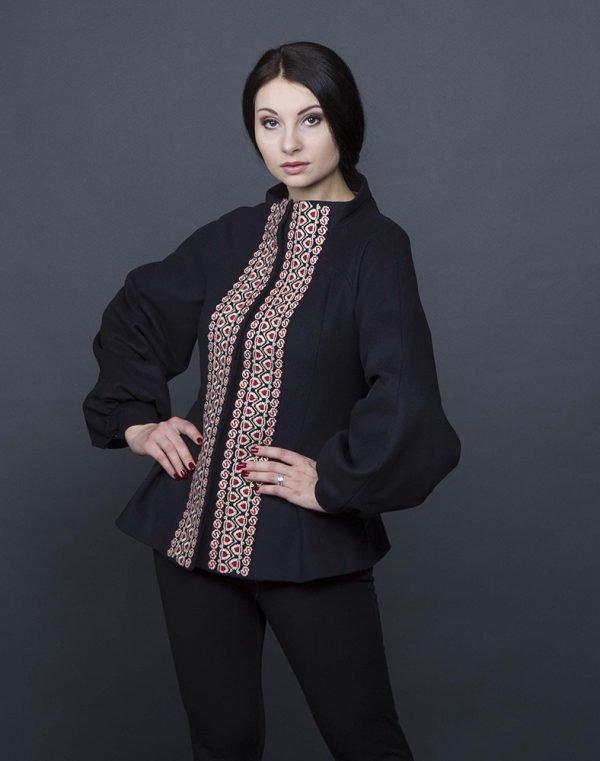 К-165 Пальто кашемир черный