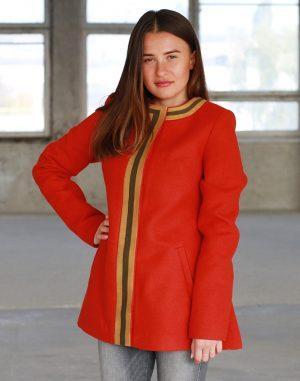 Пальто женское К-172 Берегиня кашемир терракот