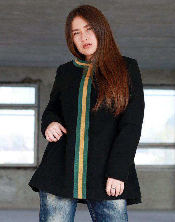 Пальто женское К-172 Берегиня кашемир черный