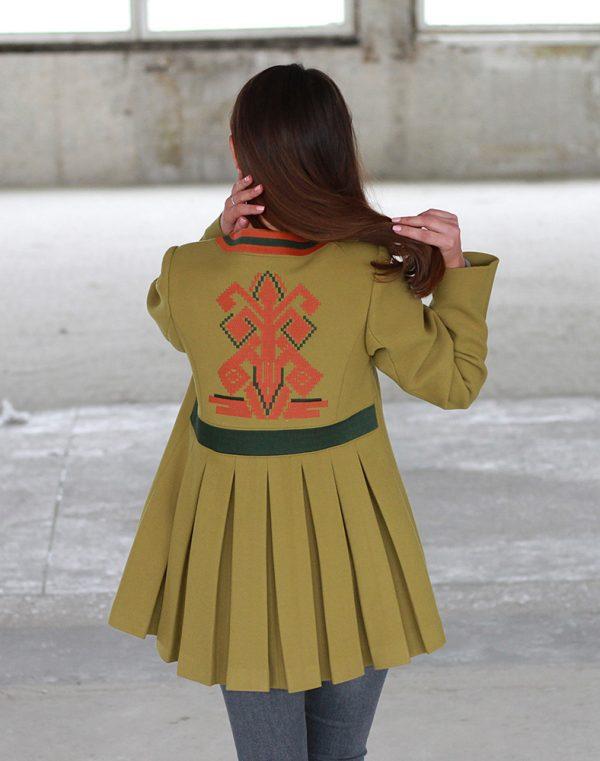 Пальто женское К-172 Берегиня кашемир олива