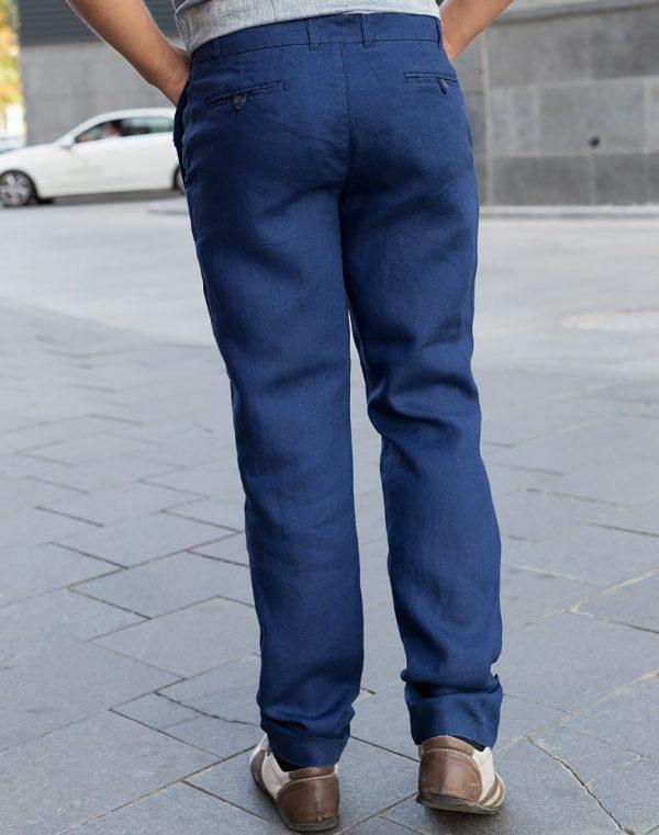 Брюки мужские лен Б-133 темно-синий