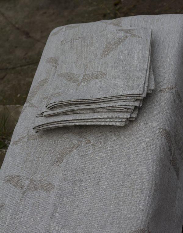 Комплект столовый Журавли бежевый