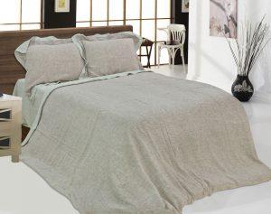Комплект постельный 220х210 бежевый