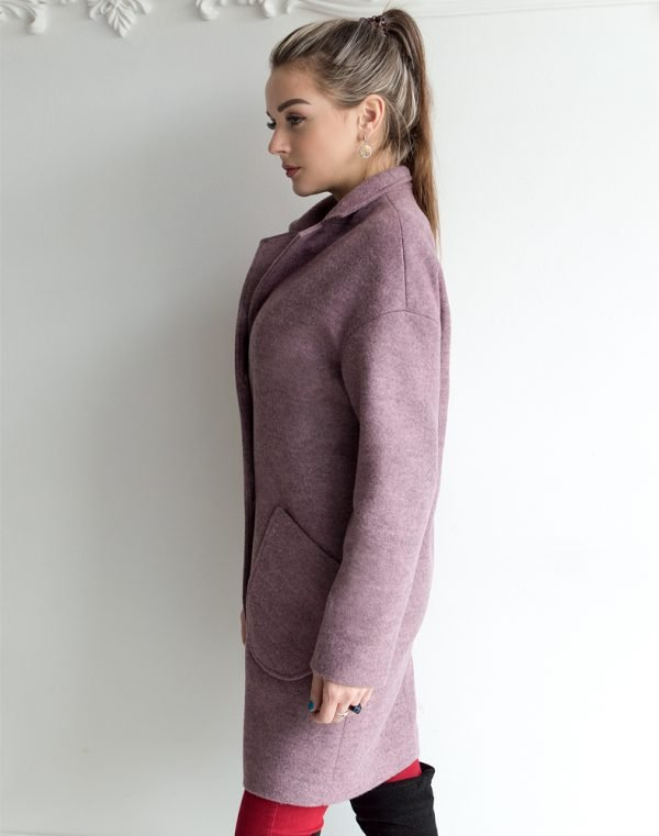 Женское пальто В-114 Кашемир Феникс чайная роза