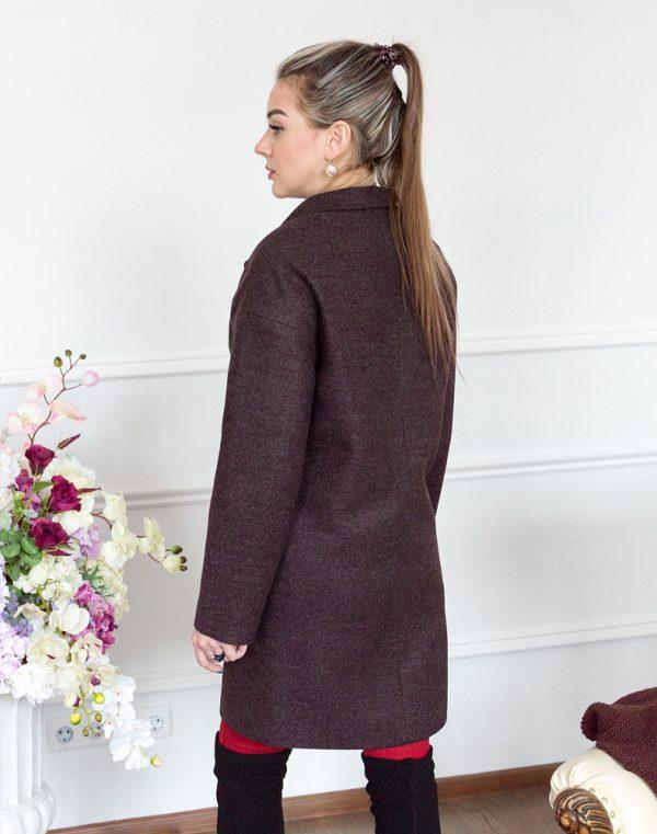Женское пальто В-114 Кашемир Феникс бордо