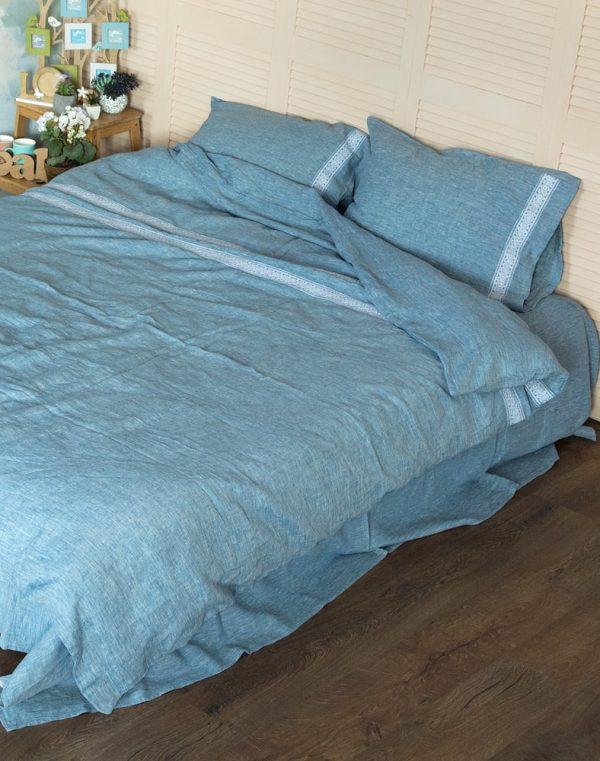 """Комплект постельного белья """"Колос"""" голубой"""